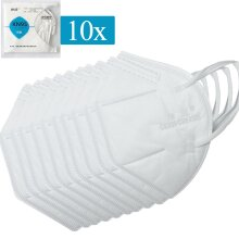 10x KN95 masks, FFP2 protective mask, 95% filtration filter respirator, KN95 =FFP2=N95=KF94, individual package CE certified