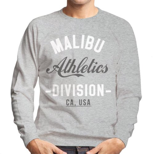 (Small, Heather Grey) Malibu Athletics Division Men's Sweatshirt