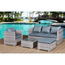 Garden Furniture Rattan Sofa Acorn Five-seater set