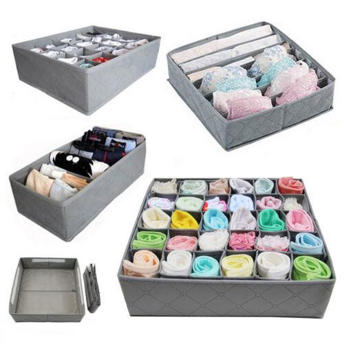 3Pc Grey Drawer Dividers Set | Drawer Organiser For Socks, Ties & Underwear