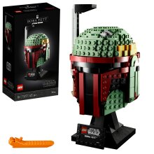 LEGO 75277 Star Wars Boba Fett Helmet Display Building Set, Advanced Collectible Gift Model for Adults