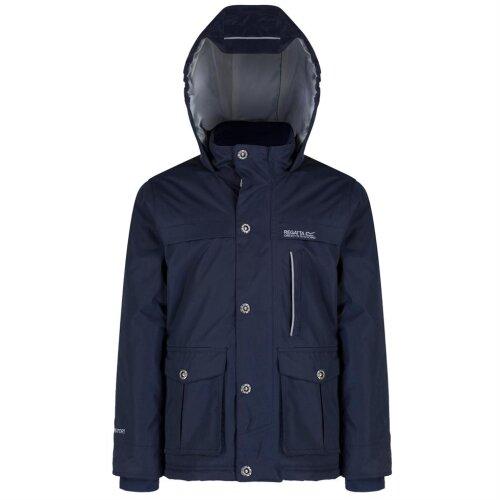 "(32"", Navy) Regatta Sheriff Boys Jacket Insulated Waterproof"