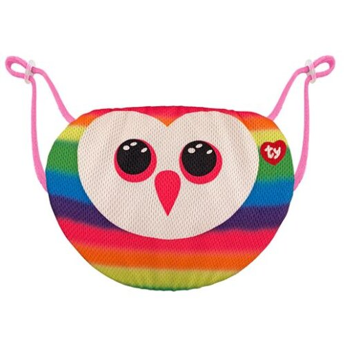 TY Owen Owl Face Mask Cover