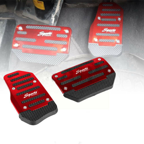 Universal Non-Slip Automatic Throttle Brake Foot Pedal Pad Cover Car Pats Red