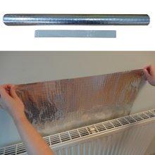 Radiator Foil - Heat Reflector Film for Home Insulation - 5m x 50cm