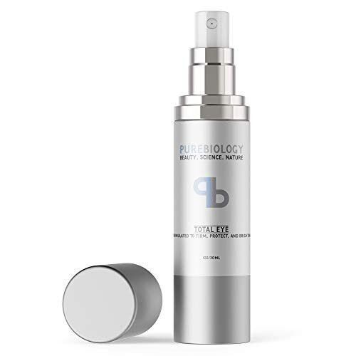 Pure Biology Total Eye Cream with Hyaluronic Acid, Baobab Oil & Anti Aging Complexes to Reduce Dark Circles, Puffiness, Under Eye Bags, Wrinkles & Fin