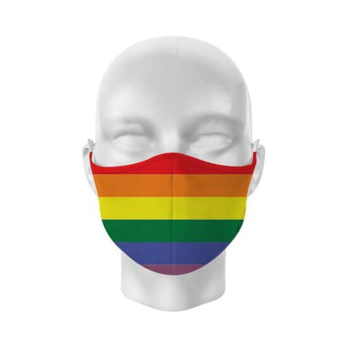 Reusable Face Covering-Non Medical- Rainbow-Size Large