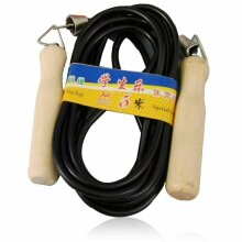 Wooden Handles Nylon Skipping Jumping Rope Fitness Aid Exercise