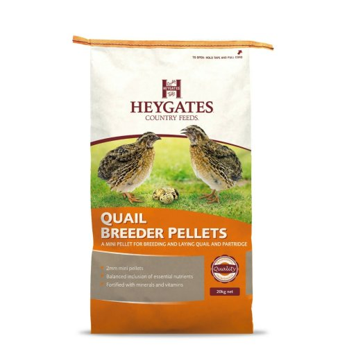 Heygates Quail & Partridge Layers / Breeder Pellets Feed 20kg 2mm Micro Pellet