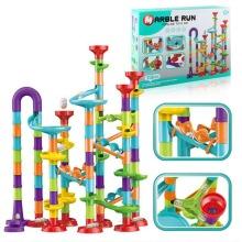 The Magic Toy Shop Marble Run Race Toy Set,Construction Building Block Maze Toy Gift 113/93/50pcs