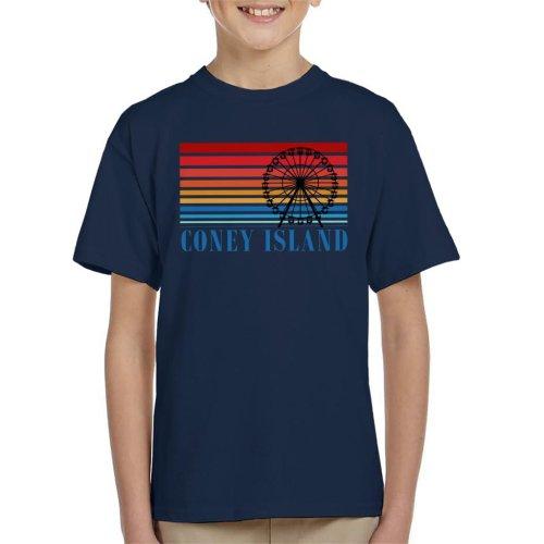 Coney Island Ferris Wheel Retro 70s Kid's T-Shirt