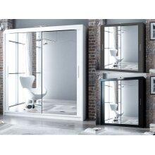 Modern Bedroom Mirror Sliding Door Wardrobe DAKO 3-- 5 SIZES, 3 COLORS