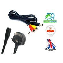 SEGA Saturn TV AV Cable + Power Lead - NEW - UK
