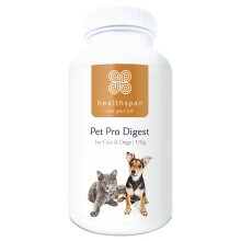 Pet Health | Pet Pro Digest for Cats & Dogs | Healthspan | 120g Tub