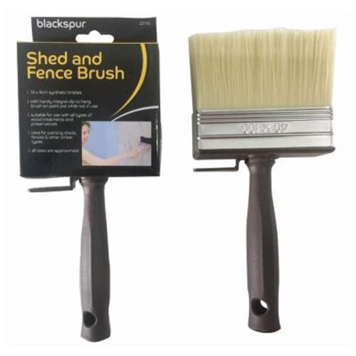 Large 10cm x 4cm Wide Fence And Shed Decking Painting Paint Brush Paste