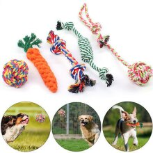 5X Dog Rope Toys Tough Strong Chew Knot Knotted Pet Puppy Healthy
