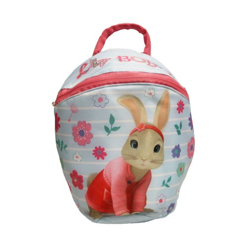Peter Rabbit Girls Toddler Backpack with Reins 2.5 L, Blue/Pink