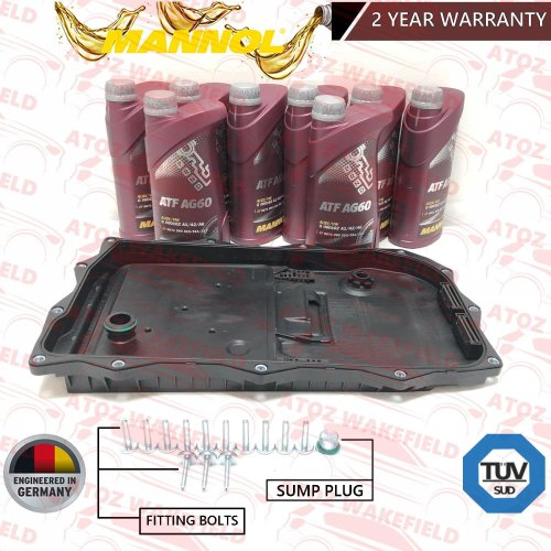 FOR BMW 320d 325d 335i 340i AUTOMATIC TRANSMISSION GEARBOX SUMP PAN FILTER KIT