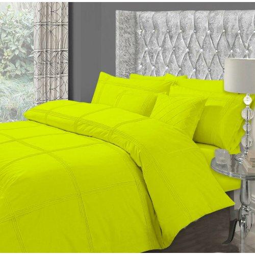 (Hamlet Duvet Cover (Lime Green King)) Luxury Hamlet Duvet Quilt Cover Bedding Set With Pillowcases