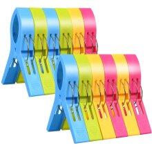 Large Laundry Clip Towel Pegs Bright Color Plastic Quilt Clips 12pcs