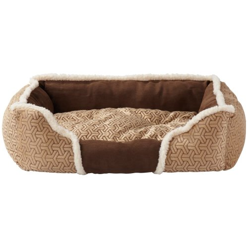 (Medium, Cream) Bunty Kensington Dog Bed | Fleece Pet Bed