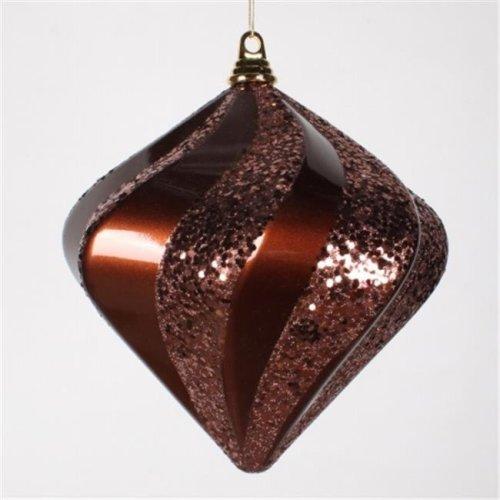 10'' Chocolate Candy Glit Swirl Diamond