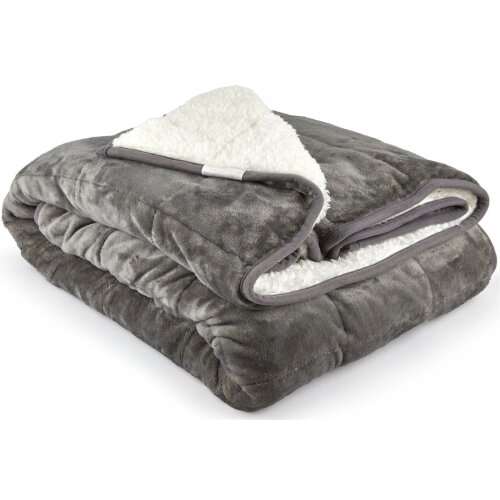 Weighted Blanket Sherpa 7KG For Anxiety, Stress Relief, Improved Sleep, Grey