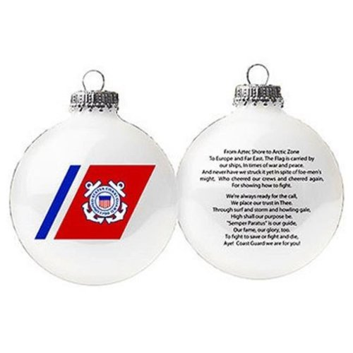 Christmas by Krebs 238733 3.25 in. US Coast Guard Glass Ornament