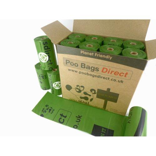 PooBagsDirect Dog Poo Bags | Large 240 Green Bags