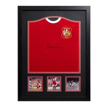 Framed Denis Law signed 1963 Manchester Utd Cup Final shirt with COA