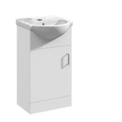 Mars 450mm Single Door Vanity Unit Floor Standing White
