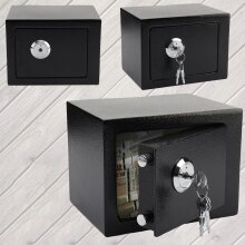 BLACK KEY SMALL FIREPROOF DIGITAL SAFE SECURITY HOME OFFICE MONEY