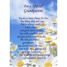 "Special Grandparent Poem Verse Greeting Card 8""x5.5"""