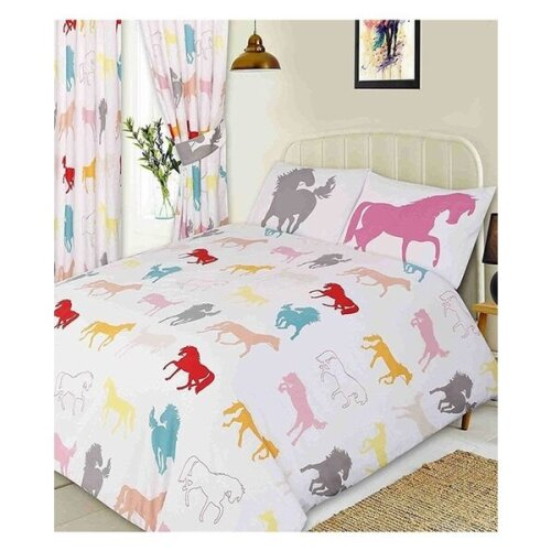 Horse White Bed Sets