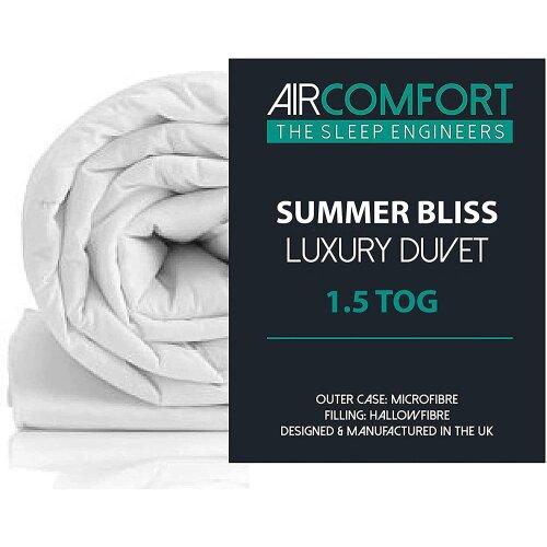 (Super-King) AirComfort Summer Bliss  1.5 Tog Microfibre Duvet