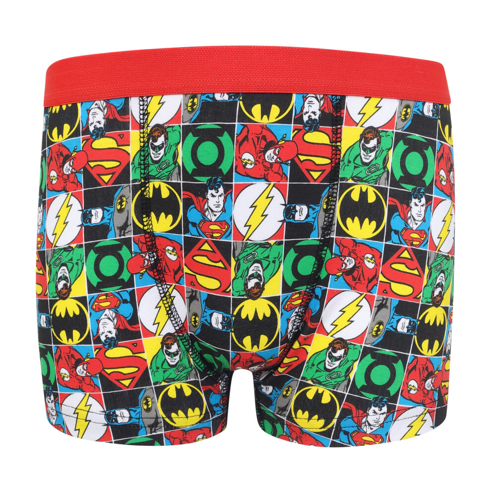 DC Comics Batman Superman Official Gift 3 Pack Boys Boxer Shorts