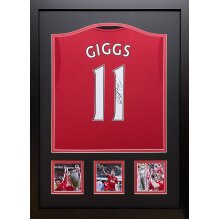 Framed Ryan Giggs signed Manchester United shirt with COA & proof