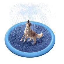 Cloudstyle Summer Outdoor Water Play Sprinklers Splash Mat Navy blue Õ150cm