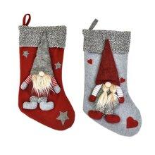 Christmas Elf Cloth Stocking