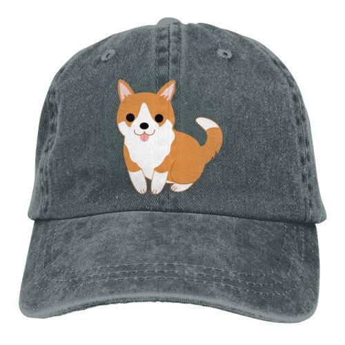 Cute Corgi Denim Baseball Caps