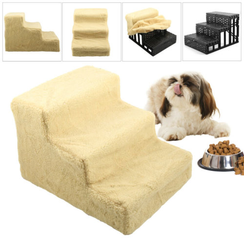 Dog/Puppy/Cat3 Step Pet Stairs Car/Sofa/Bed Washable Soft Cover