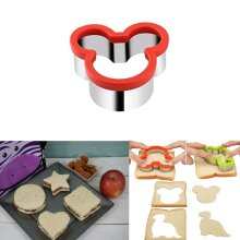 Kids Sandwich Cutter Mickey Shape Cookie Biscuit Pastry Baking Stainless Steel
