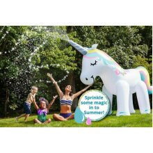 LARGE INFLATABLE UNICORN SPRINKLER WATER BEACH PARTY 6FT GIANT SPRAYER