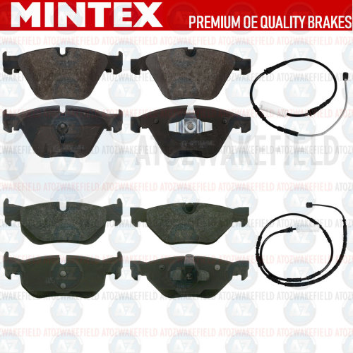 FOR BMW 320d E90 E91 E92 E93 FRONT REAR MINTEX BRAKE PADS WIRE SENSORS FR RR