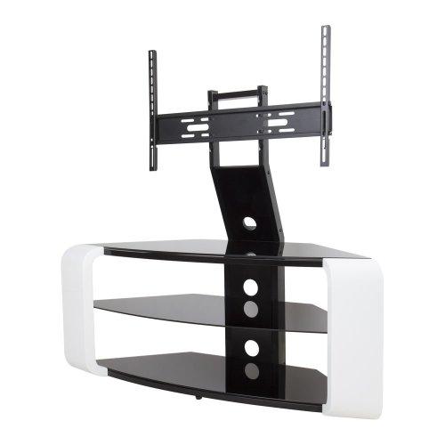 AVF Como FSL1174COGW TV Stand with Bracket - White, White