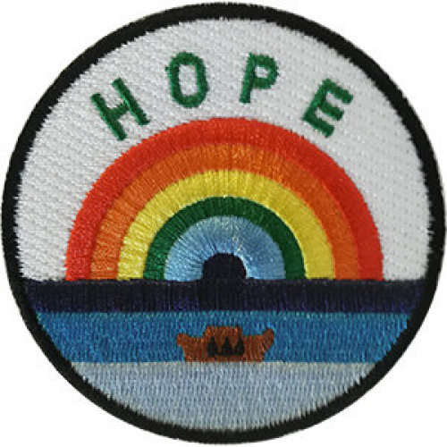 Patch - Inspirational - Hope With Rainbow Icon-On p-dsx-4860