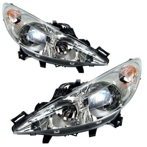 Peugeot 207 Hatchback 2006-2010 Headlights Headlamps 1 Pair O/s & N/s
