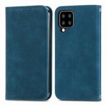 Premium PU Leather Samsung Galaxy A22 case Card Holder Blue