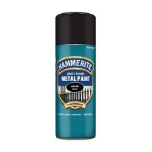 Hammerite Smooth Satin Black Paint - 400ml