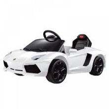 Rastar Lamborghini Aventador LP700-4 6-Volt Car Ride-On, White